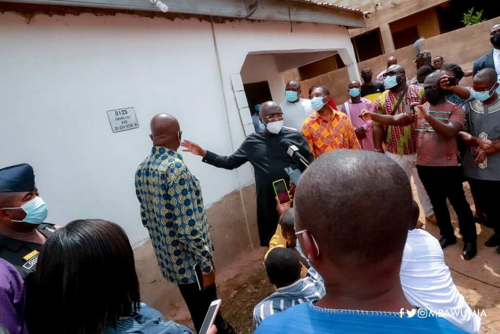 Vice President Bawumia Inspects Installation of House Numbers in Ghana