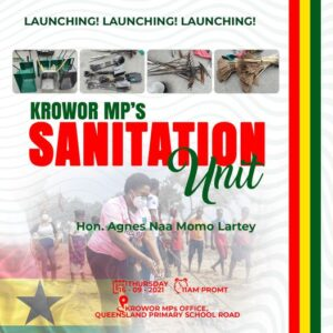 MP for Nungua to Launch Community Sanitation Unit, Share Free Equipment on Sept 16.
