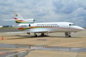 Liberian President, George Weah, Spotted Using Ghana's Abandoned Presidential Jet